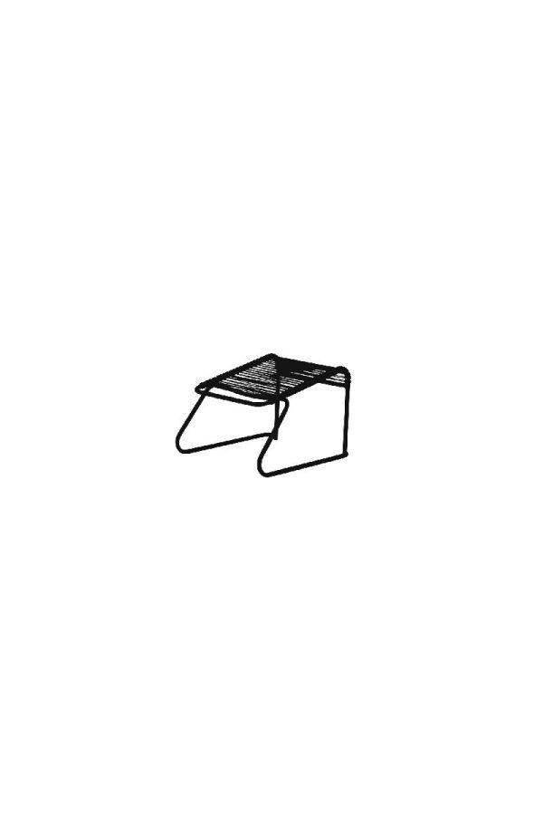 Lido Footrest 062 PVC NE Sort