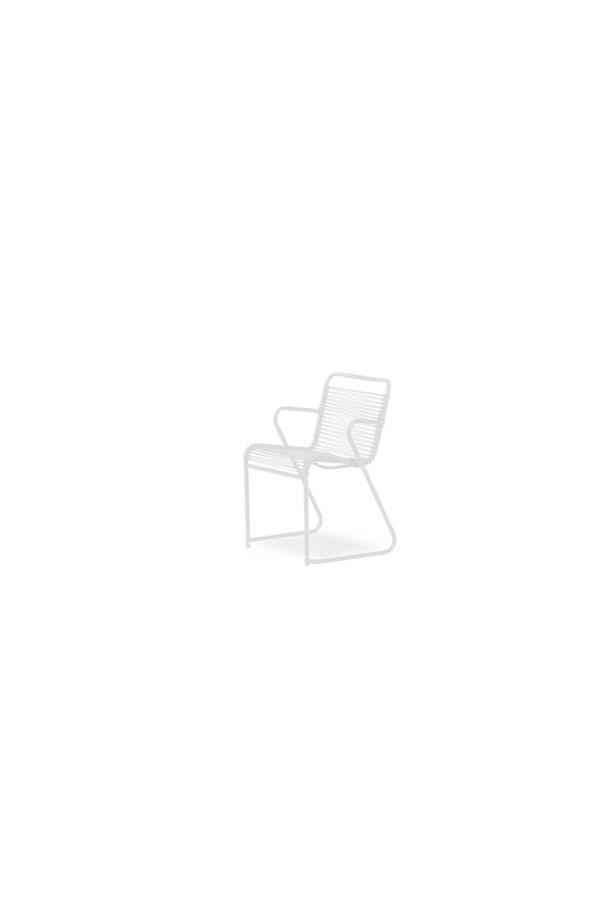 Lido Dining Armchair 069 PVC BI Hvit