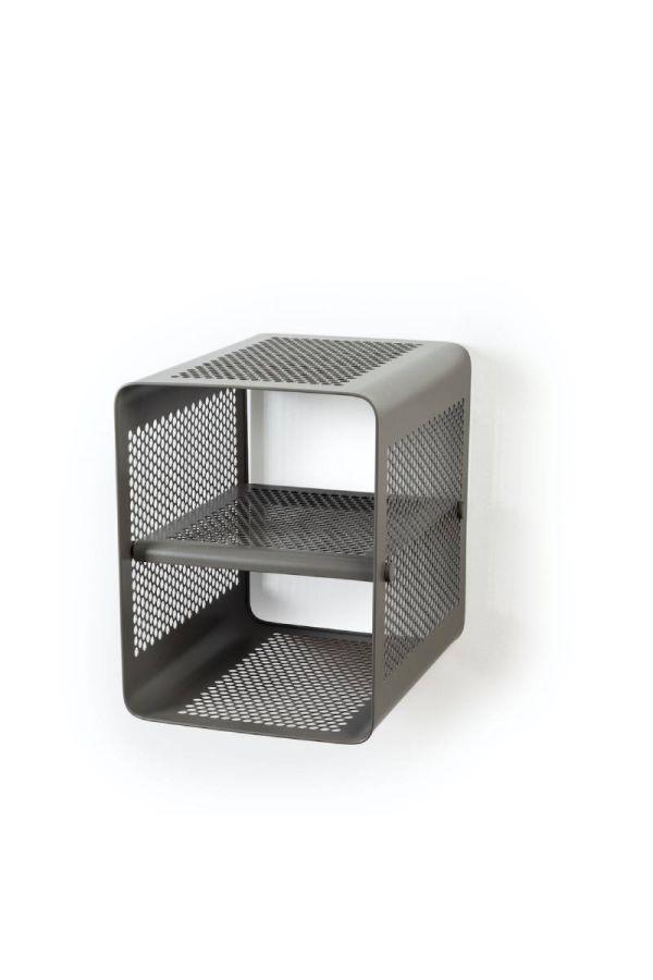 00592 skohylle vegg liten taupe/grå