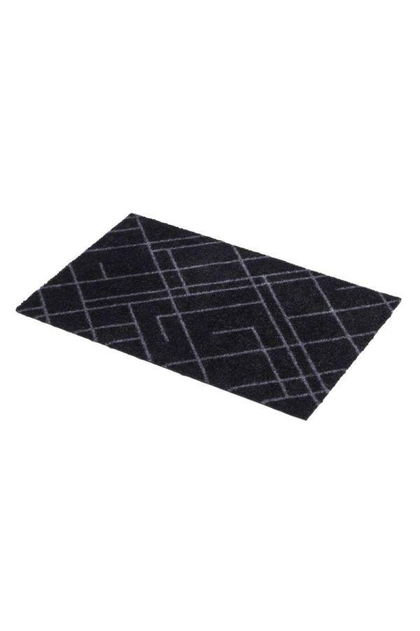00619 polyamid 40x60 Lines Black/Grey