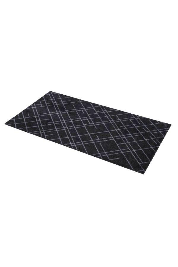 00621 polyamid 67x120 Lines Black/Grey