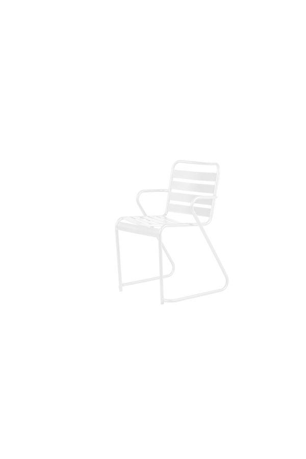 Lido Dining Armchair 069 METALL BI Hvit