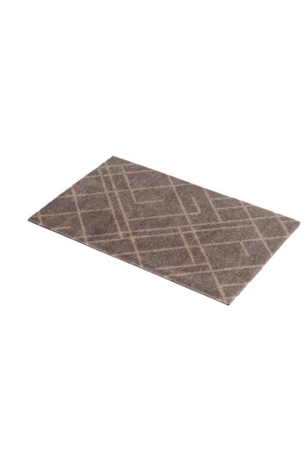 00636 polyamid 40x60 Lines Sand/Beige