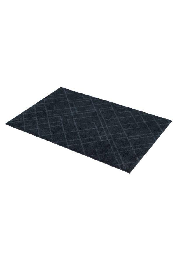 00643polyamid 60x90 Lines Dark grey