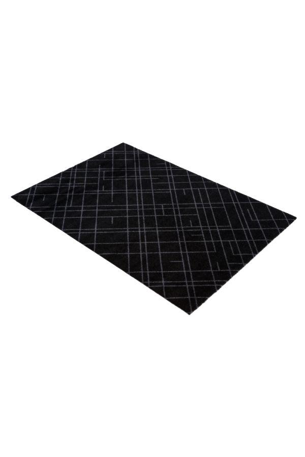 00673 polyamid 90x130 Lines black/grey