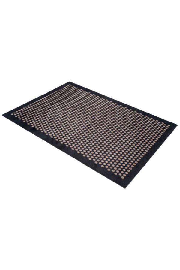 00714 polyamid 90x130 DOT Black/sand