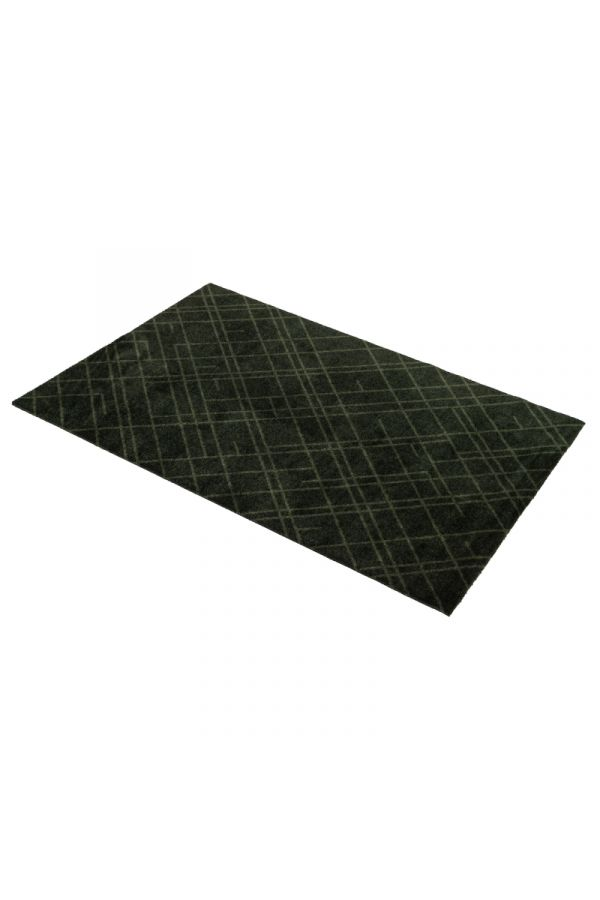 00690 polyamid 90x130 Lines Dark Green