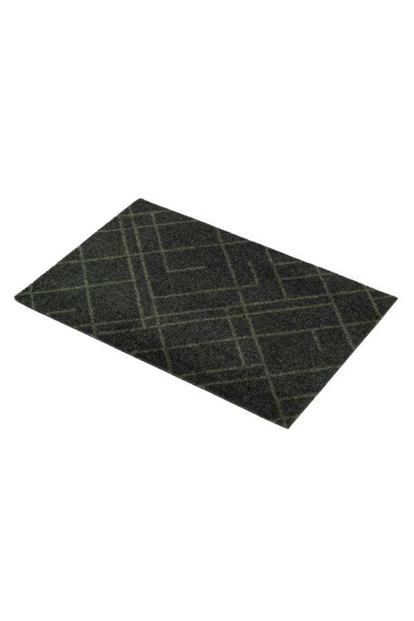 00687 polyamid 40x60 Lines Dark Green