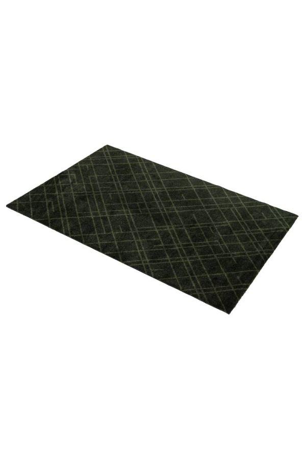 00689 polyamid 67x120 Lines Dark Green